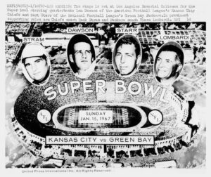 1967 Lombardi Starr Etc Super Bowl I Wire Photograph 1 300x252 - Super Bowl Weekend; How are We Watching the Big Game?